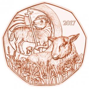 5 euro Autriche 2017 - Agneau pascal Revers (zoom)