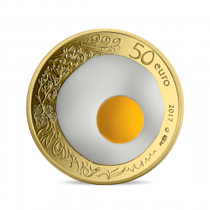 50 euro France 2017 Proof gold - Guy Savoy Reverse (zoom)