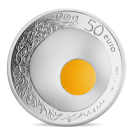 50 euro France 2017 argent BE - Guy Savoy Revers