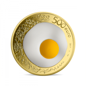 500 euro France 2017 Proof gold - Guy Savoy Reverse (zoom)