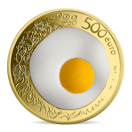 500 euro France 2017 or BE - Guy Savoy Revers