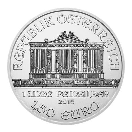 (EUR01.150.2015.21373) 1,50 euro Autriche 2015 1 once argent - Philharmonique Avers