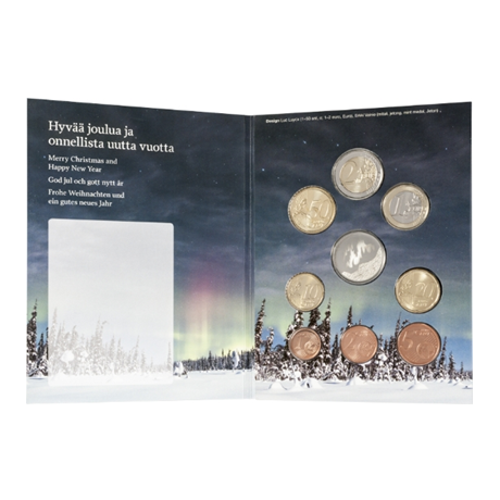 (EUR06.CofBU&FDC.2017.Cof-BU.7) Brilliant Uncirculated coin set Finland 2017 - Christmas (inside)