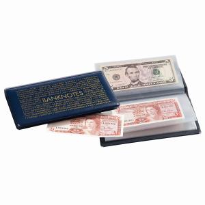(MAT01.Alb&feu.Alb.313845) Blue pocket album Leuchtturm NUMIS for 20 banknotes (zoom)