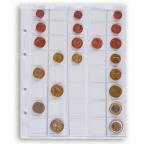 (MAT01.Alb&feu.Feu.308740) Feuille Leuchtturm OPTIMA pour séries 1 cent à 2 euro (utilisée)