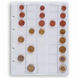 (MAT01.Alb&feu.Feu.308740) Feuille Leuchtturm OPTIMA pour séries 1 cent à 2 euro (utilisée) (zoom)