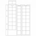 (MAT01.Alb&feu.Feu.308740) Feuilles Leuchtturm OPTIMA pour séries 1 cent à 2 euro