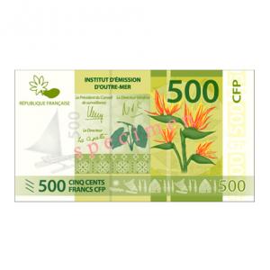Specimen de présentation 500 CFP 2014 Verso