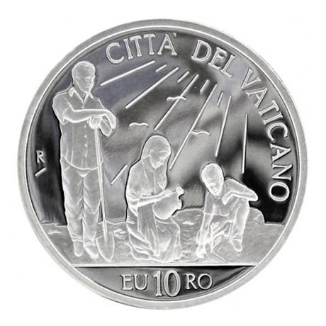 10 euro Vatican 2010 argent BE - Journée mondiale de la paix Avers