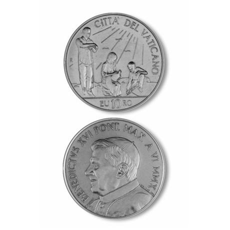 10 euro Vatican 2010 argent BE - Journée mondiale de la paix