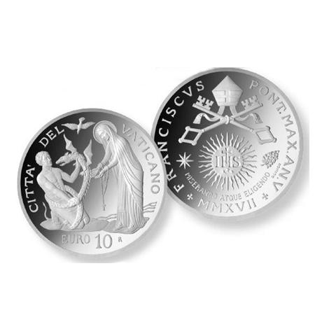 10 euro Vatican 2017 argent BE - Journée mondiale du malade