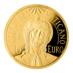 10 euro Vatican 2017 or BE - Baptême du Christ Avers
