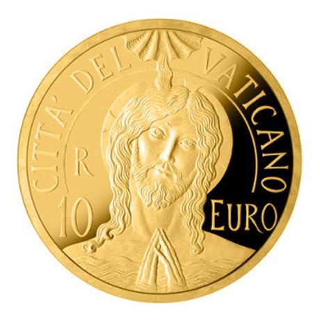 10 euro Vatican 2017 or BE - Baptême du Christ Avers