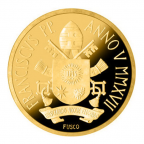 10 euro Vatican 2017 or BE - Baptême du Christ Revers