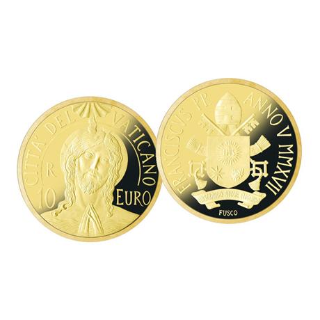 10 euro Vatican 2017 or BE - Baptême du Christ
