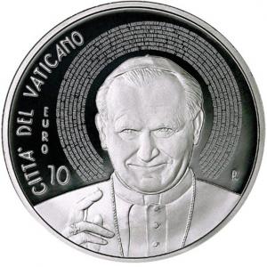 10 euro Vatican City 2015 Proof silver - Pope John Paul II Obverse (zoom)