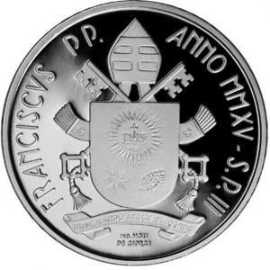 10 euro Vatican City 2015 Proof silver - Pope John Paul II Reverse (zoom)