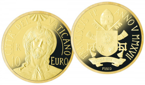 10 euro Vatican City 2017 Proof gold - Jesus Christ's baptism (zoom)