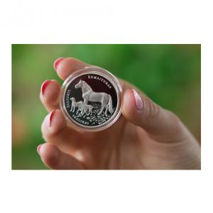 1,50 euro Lituanie 2017 - Chien de chasse lituanien et cheval Žemaitukas (visuel complémentaire)