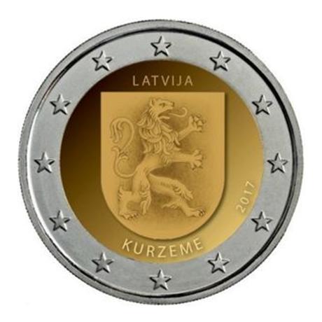 2 euro commémorative Lettonie 2017 - Courlande