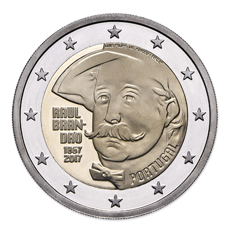 2 euro commémorative Portugal 2017 BE - Raul Brandão Avers