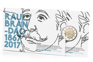 2 euro commémorative Portugal 2017 BE - Raul Brandão (packaging) (zoom)