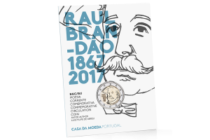 2 euro commémorative Portugal 2017 BU - Raul Brandão (packaging) (zoom)