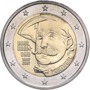 2 euro commémorative Portugal 2017 - Raul Brandão Avers (zoom)