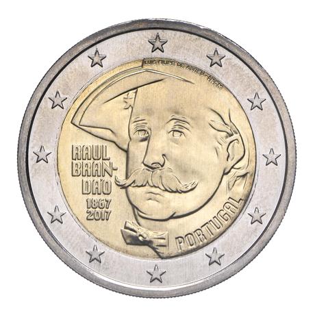 2 euro commémorative Portugal 2017 - Raul Brandão Avers