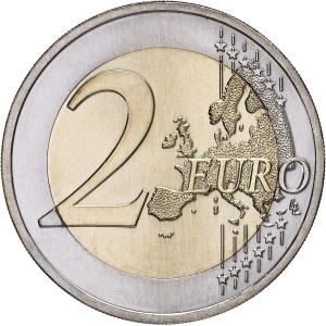 2 euro commémorative Portugal 2017 - Raul Brandão Revers (zoom)