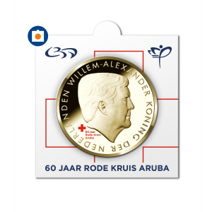 5 Florin 60th anniversary of the Arubian Red Cross 2017 (coinholder) (zoom)