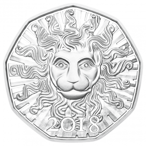 5 euro Austria 2018 Brilliant Uncirculated silver - Lion strength Reverse (zoom)