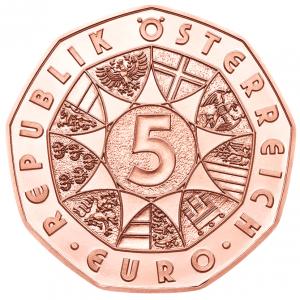 5 euro Autriche 2018 - La force du lion Avers (zoom)