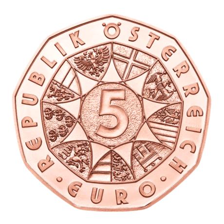 5 euro Autriche 2018 - La force du lion Avers