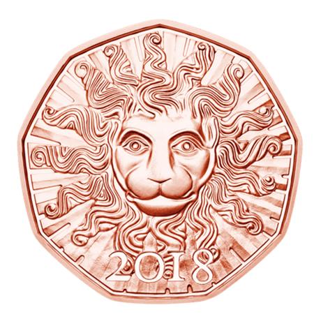 5 euro Autriche 2018 - La force du lion Revers