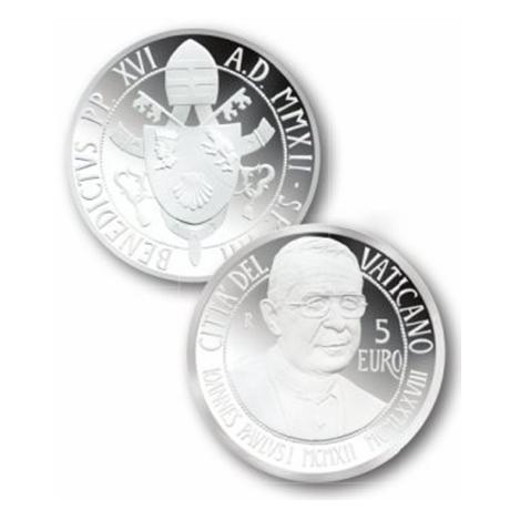 5 euro Vatican 2012 argent BE - Pape Jean-Paul Ier