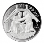 5 euro Vatican 2015 argent BE - Journée mondiale de la paix Avers