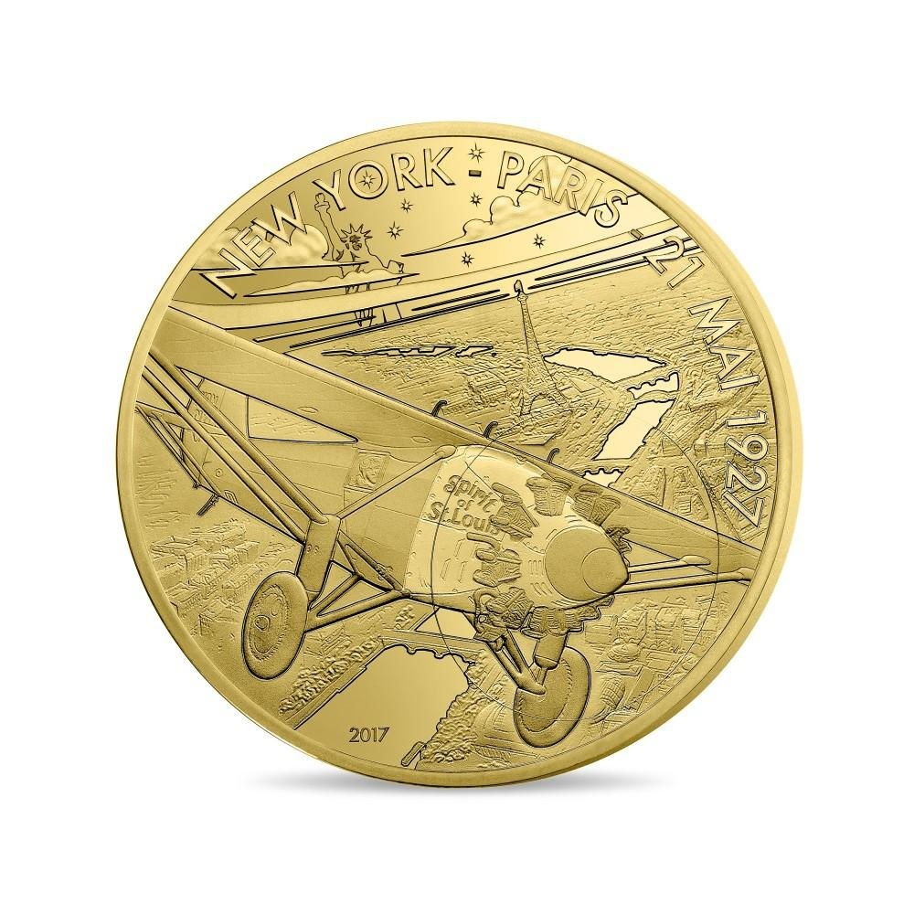 (EUR07.ComBU&BE.2017.10041308090000) 200 euro France 2017 Proof gold - Spirit of Saint Louis Obverse (zoom)