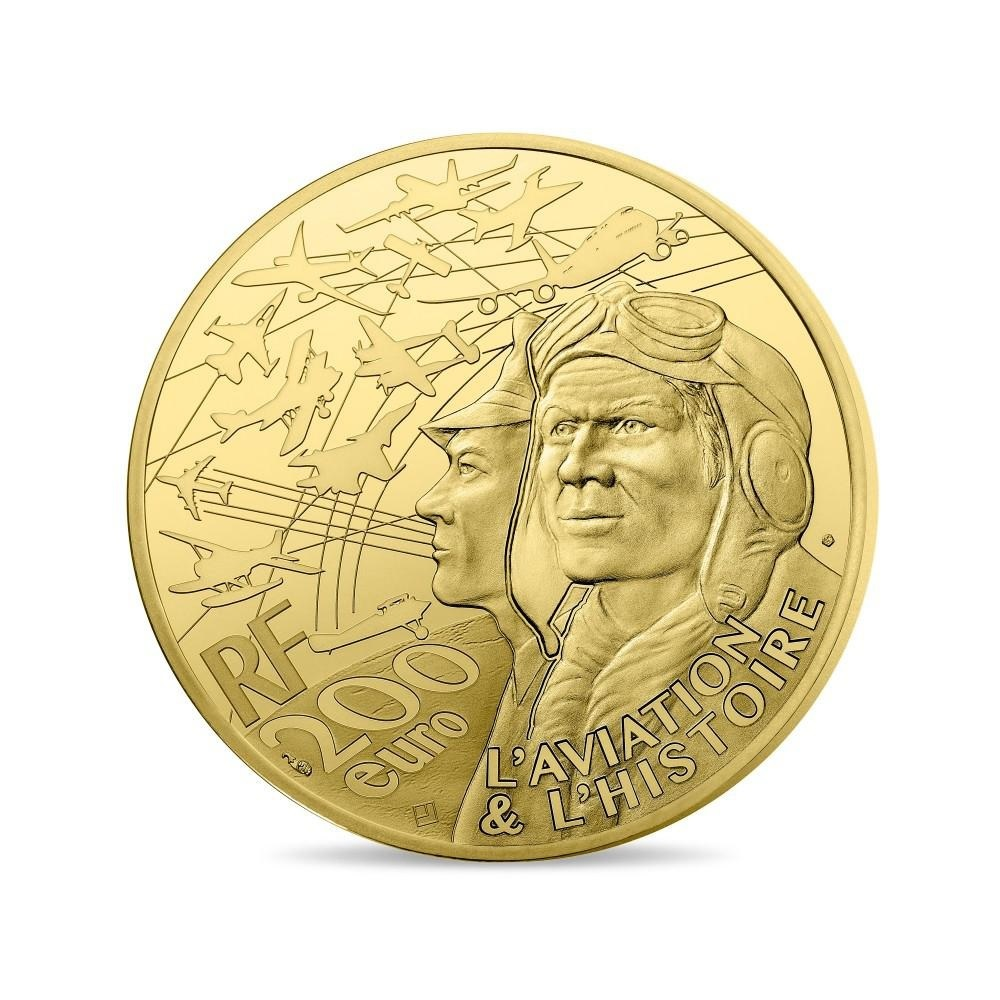 (EUR07.ComBU&BE.2017.10041308090000) 200 euro France 2017 Proof gold - Spirit of Saint Louis Reverse (zoom)