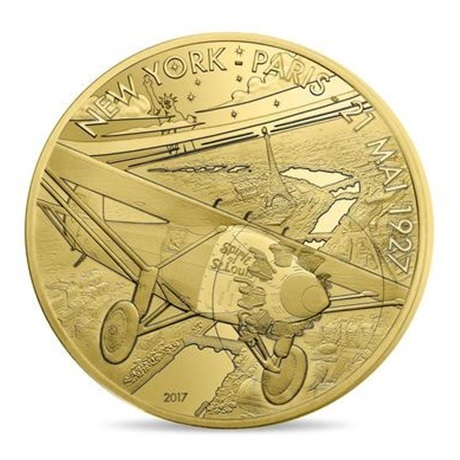 (EUR07.ComBU&BE.2017.10041308090000) 200 euro France 2017 or BE - Spirit of Saint Louis Avers