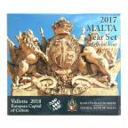(EUR13.CofBU&FDC.2017.Cof-BU.1.000000002) Coffret BU Malte 2017 - La Valette (Recto)