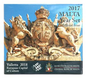 (EUR13.CofBU&FDC.2017.Cof-BU.1.000000002) Coffret BU Malte 2017 - La Valette (Recto) (zoom)