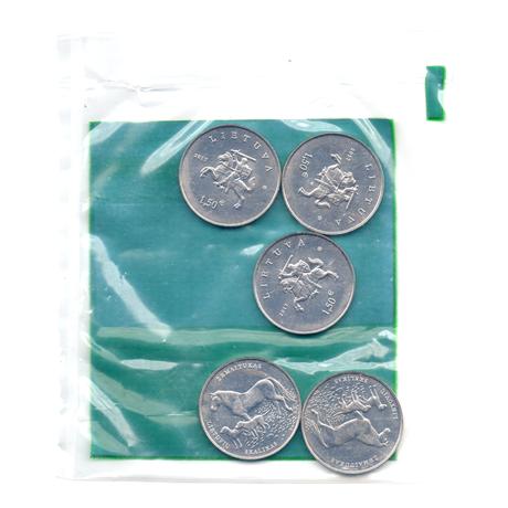 (EUR22.bag.2017.2) Sachet de banque 1,50 euro Lituanie 2017 - Chien de chasse lituanien et cheval Žemaitukas Verso
