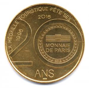 (FMED.Méd.souv.2016.CuAlNi1.3.000000002) Jeton touristique - Le Lérot (revers commémoratif) Revers (zoom)