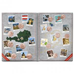 (MATMünzeÖ.Alb&feu.Alb.20983) Album collector Monnaie d'Autriche - 5 et 10 euro Autriche cuivre (ouvert) (zoom)