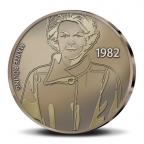 (MED14.Méd.KNM.2010.CuSn2) Médaille bronze patiné - Beatrix, par Marte Röling Revers