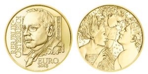 50 euro Autriche 2018 or BE - Alfred Adler (zoom)