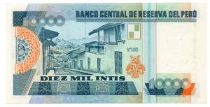 (BILLS173.10000i.1988.1.1988_06_28.A1068548S) 10000 Intis Cesar Abraham Vallejo Mendoza 1988 Back (zoom)