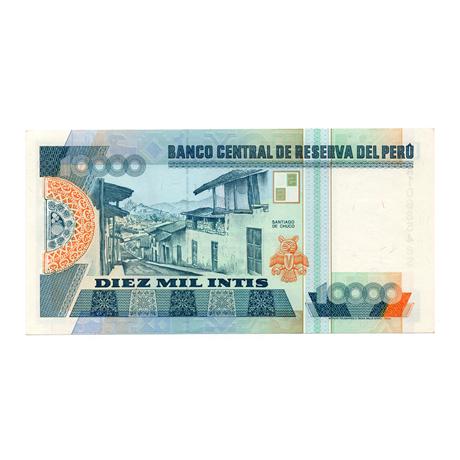 (BILLS173.10000i.1988.1.1988_06_28.A1068548S) 10000 Intis Cesar Vallejo 1988 Verso