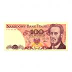 (BILLS175.100Z.1988.1.1988_12_01.PN.4139107) 100 Zlotych Ludwik Waryński 1988 Recto